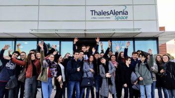 Visite du site Thalès Alenia Space pour nos élèves de TS et de l'option BIA.