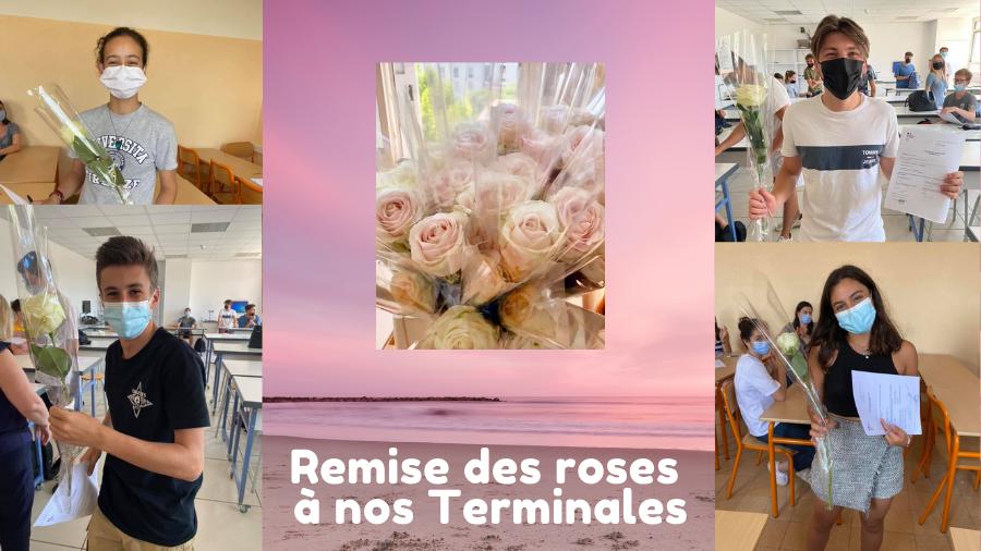 Remise de roses aux Terminales version Covid